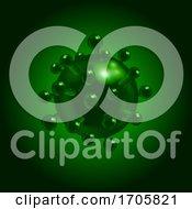 3D Virus Molecule Covid10 In Green