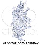 04/02/2020 - Koi Carp Transforming Into Dragon Tattoo Drawing