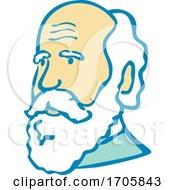 Nerdy Charles Darwin MASCOT