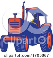 Poster, Art Print Of Vintage Farm Tractor Retro
