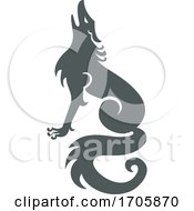 Wolf Howling Side CELTIC KNOT