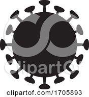 Black Silhouetted Coronavirus Icon