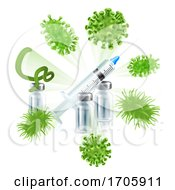 Vaccine Syringe Virus Vaccination Medical Concept by AtStockIllustration
