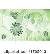 Virus Cells Viral Spread Pandemic Map Concept by AtStockIllustration