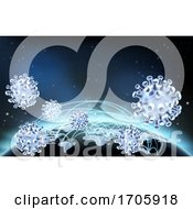 Coronavirus Virus Cell Global Pandemic World by AtStockIllustration