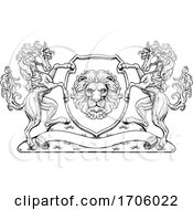 Crest Coat Of Arms Horse Lion Family Shield Seal