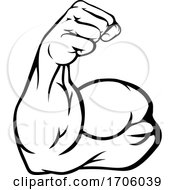 Strong Arm Showing Biceps Muscle