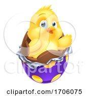Poster, Art Print Of Easter Egg Chick Little Baby Chicken Bird Cartoon