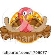 Poster, Art Print Of Turkey Thanksgiving Or Christmas Cartoon Character