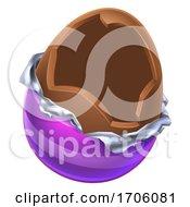 Easter Egg Chocolate Broken Open