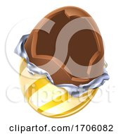 Easter Egg Chocolate Broken Open