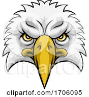 Eagle Head Mascot Face