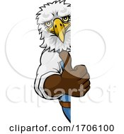 Poster, Art Print Of Eagle Mascot Plumber Mechanic Handyman Worker