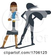 Poster, Art Print Of Young Medical Doctor Super Hero Cartoon Mascot