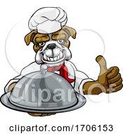 Bulldog Chef Mascot Sign Cartoon