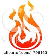 Gradient Fire by AtStockIllustration