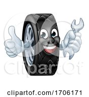 Tyre Cartoon Car Mechanic Service Mascot