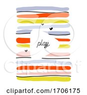 Creative Design Template With Abstract Colorful Horizontal Lines