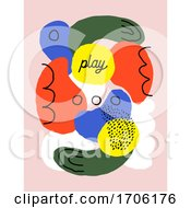 Creative Abstract Art Design Template With Organic Shapes