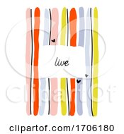 Creative Design Template With Abstract Colorful Lines