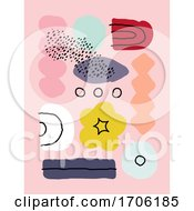 Creative Art Design Template With Abstract Organic Shapes In Pastel Colors