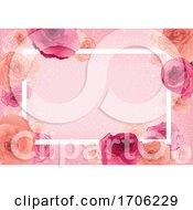Poster, Art Print Of Rose Floral Border