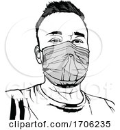 Person Wearing A Covid 19 Coronavirus Face Mask