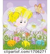 Poster, Art Print Of Girl Hiding Or Finding Easter Eggs