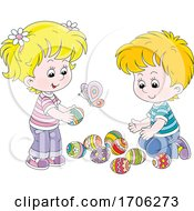 Children With Easter Eggs