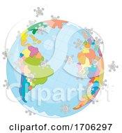 Poster, Art Print Of Covid19 Coronavirus Globe