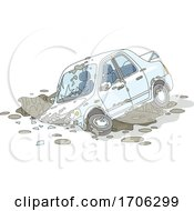 Car Wrecked In Mud