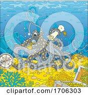 Octopus With Sunken Items