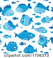 Fish Background Seamless Pattern