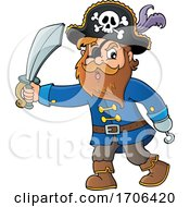 Pirate Captain Holding A Sword