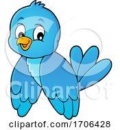 Poster, Art Print Of Cute Happy Bluebird