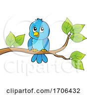 Cute Happy Bluebird