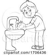 Boy Washing His Hands