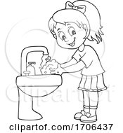 Girl Washing Her Hands