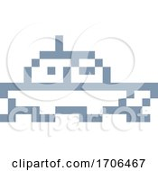 Boat Ship Pixel 8 Bit Video Game Art Icon