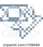 Poster, Art Print Of Tickets Pixel 8 Bit Video Game Art Icon