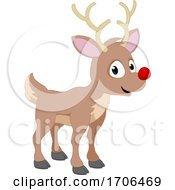 Reindeer Christmas Cartoon Santa Deer