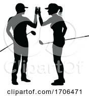 Poster, Art Print Of Golfer Golf Sports People In Silhouette