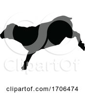 Poster, Art Print Of Sheep Or Lamb Farm Animal In Silhouette