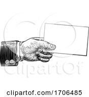 04/09/2020 - Hand Holding Business Card Flyer Note Frame Sign