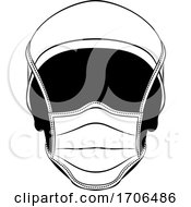 Doctor Wearing PPE Protective Face Mask Icon