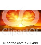 Poster, Art Print Of Sky Sun Sunrise Sunset Background Landscape