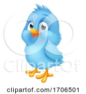 04/09/2020 - Blue Bluebird Baby Bird Cartoon Mascot