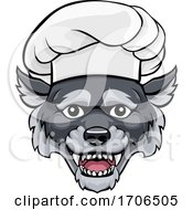 Wolf Chef Mascot Cartoon Character