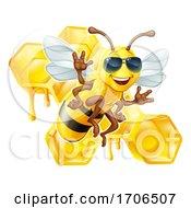 Bumble Bee Honey Honeycomb Sunglasses Bumblebee by AtStockIllustration