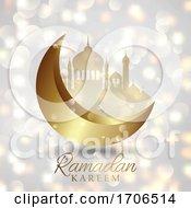 Ramadan Kareem Background On A Bokeh Lights Design